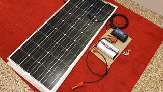 Kit Solar Panel Fexible 100w + Inversor 1000w puro