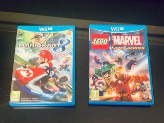 WiiU Mario Kart 8 + Marvell Súper Héroes.