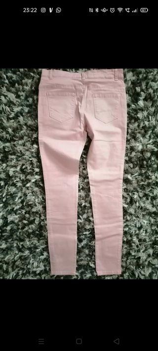 Pantalón vaquero rosa.Denim Co