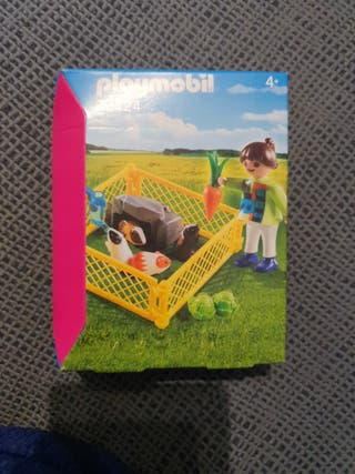 Niña con granja de cobayas Playmobil