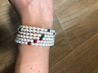 2 pulseras de perlas