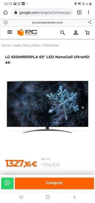 TV 65 PULGADAS LG NANCELL ALTA GAMA UHD 4K TIENDA