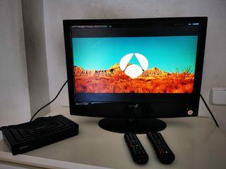 televisión LCD con DVD,22 pulgadas