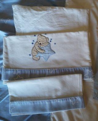 sábanas de cuna de osito