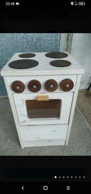 cocina de madera niños