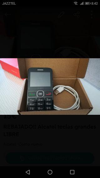 REBAJADO!! Alcatel teclas grandes LIBRE