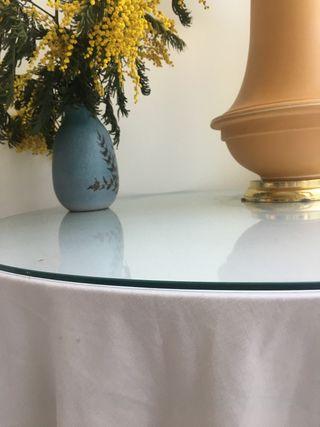 Cristal redondo para mesa camilla