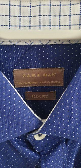 Camisa Zara azul NEGOCIABLE