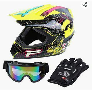 Casco+gafas+guantes motocross