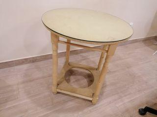 Mesa de camilla + cristal