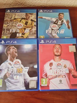 videojuegos Fifa17/Fifa18/Fifa19/Fifa20 ps4