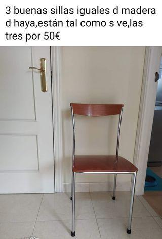 3 buenas sillas