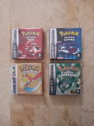 Cartuchos juegos pokemon Nintendo GBA y game boy c