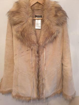 abrigo de Morgan 100% piel vacuno talla M