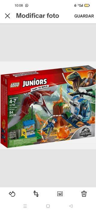 Lego juniors Jurassic World 10756 huida