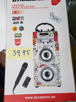 Altavoces, Karaoke CON Bluetooth