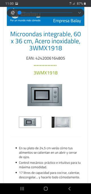 microondas integrado Balay