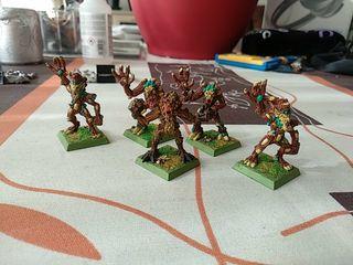 Warhammer Fantasy elfos silvanos miniaturas