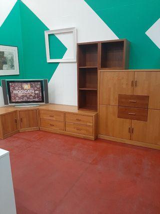 armario madera rinconera