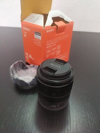 Lente sony 28mm e-mount full frame