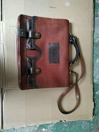 maletín piel antiguo muy buen estado