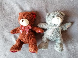Lote 2 peluches oso