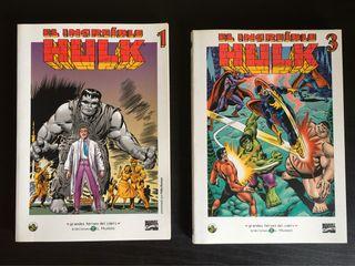 """Pack """"El Increíble Hulk"""" 1 y 3 biblioteca El Mundo"""