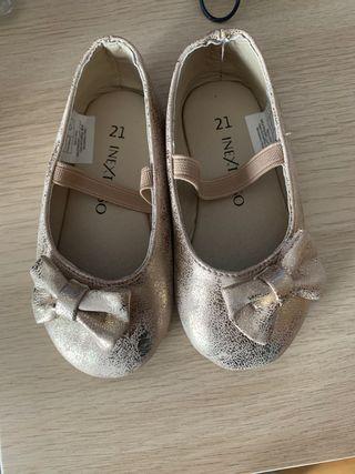Zapatos Dorados Bebe