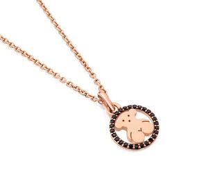 Collar Camille de Plata 925 TOUS Vermeil Rosa con