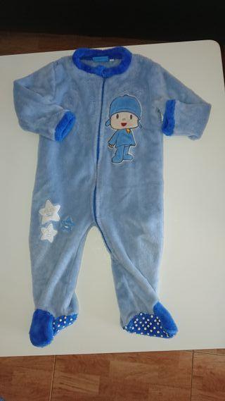 Pijama bebe tacto toalla 10 meses
