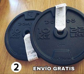2 DISCOS DE 10KG PESAS (ENVÍO GRATIS*)