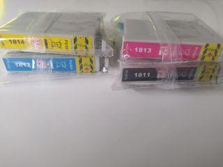 cartuchos de tinta para impresora Epson.