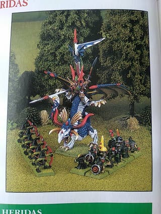 Warhammer Fantasy Altos Elfos dragon miniatura