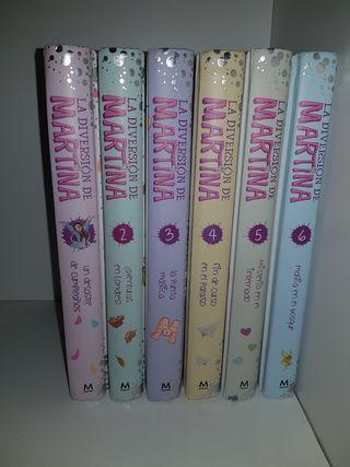 Libros de la colección, la diversion de Martina.