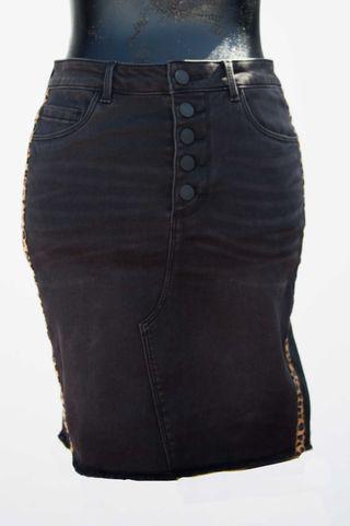 Falda mini vaquera negra ONLY