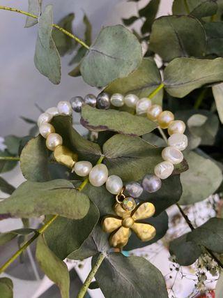 Pulsera elástica perlas