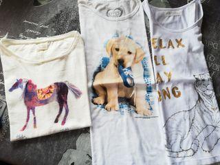 3 Camisetas de niña talla 10