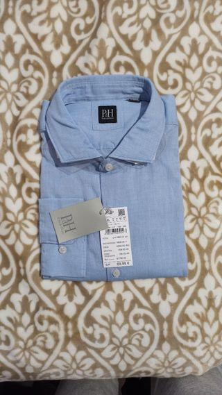 Camisa vestir PdH azul