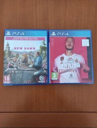 2 videojuegos PS4