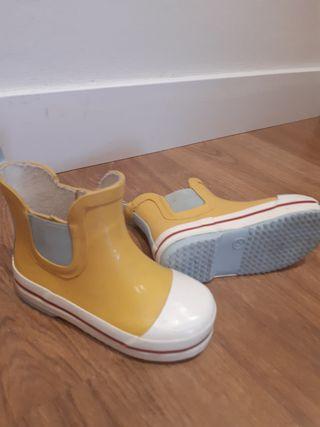 botas agua amarillas 23 buen estado