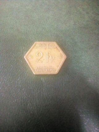 moneda del congo Belga de 1943
