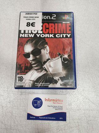 Videojuego True Crime New York City / PS2