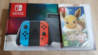 Nintendo Switch + pokemon Eevee
