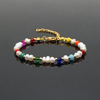 Pulsera perlas Chapada Oro