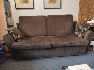 Sofá cama tres plazas y sillón/butaca