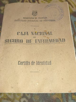 cartilla de identidad
