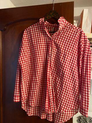 Camisa de cuadro de mujer