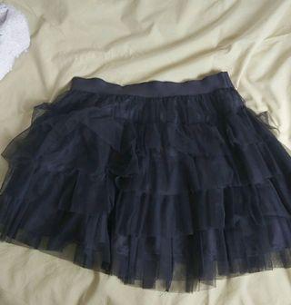 falda de tul negra.
