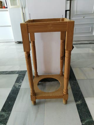 patas, estructura mesa camilla madera