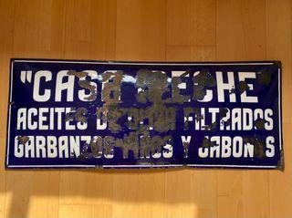 Antiguo Cartel esmaltado Casa Ipeche
